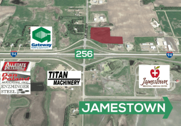 land for sale west of Jamestown, ND along Interstate 94 exit 256