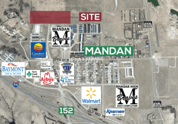 Mandan land for sale off interstate 94 exit 152 just north of Mandan Middle School