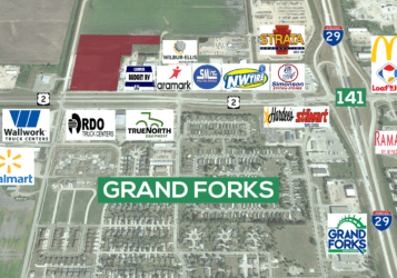 land for sale in NW Grand Forks, ND along US Highway 2