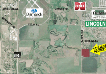 land for sale along 52nd Street south of Lincoln, ND