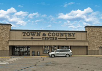 Town & Country Center along Broadway Avenue in Minot, ND