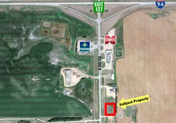 aerial map of land for sale