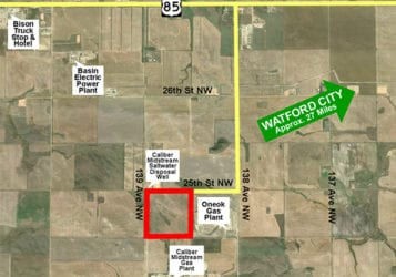 map showing the property for sale