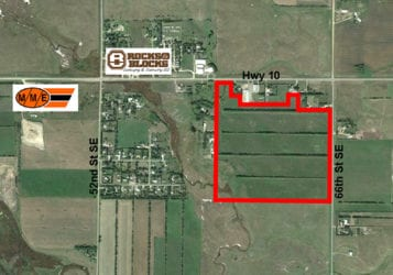 map of 125.5 acres for sale
