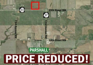 map showing acres for sale
