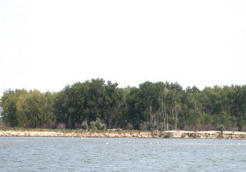 view of shoreline from the water