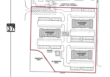 mixed use development apartment site on the corner of ND highway 37 & nd highway 23 north of Parshall, ND in Mountrail County