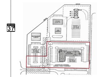 mixed use development hotel site on the corner of ND highway 37 & nd highway 23 north of Parshall, ND in Mountrail County