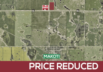 18 acres of land for sale north of Makoti, ND in Ward County along Highway 23