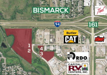Industrial lots south of Interstate 94 in Bismarck near Butler Machinery