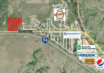 Morton County Acreage map highlighted parcel for sale