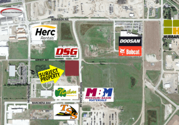 South Bismarck lot for sale on the corner of Airway Ave & Northern Plains Drive