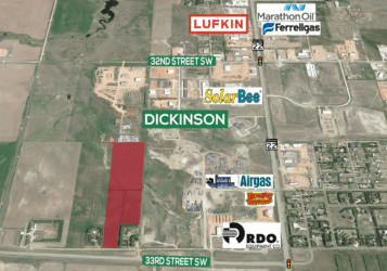 Dickinson, ND land for sale along 33rd Street SW near Highway 22