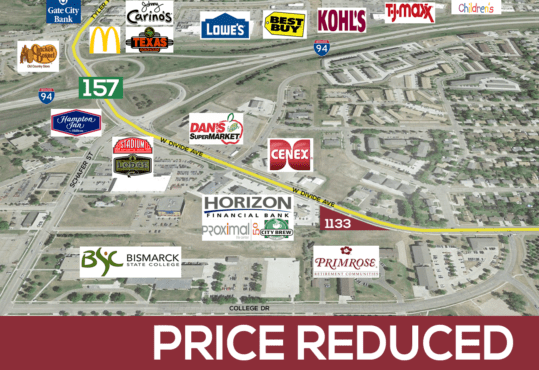 lot for sale in NW Bismarck, ND just off Divide Avenue and Interstate 94