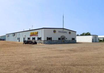retail office shop building for sale along Highway 83 in Washburn, ND NAPA McLean County Implement