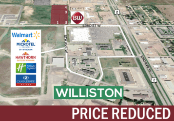 Williston, ND land for sale just off Highway 2 and north of Walmart