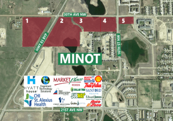 Development land for sale in NW Minot along Highway 83 bypass